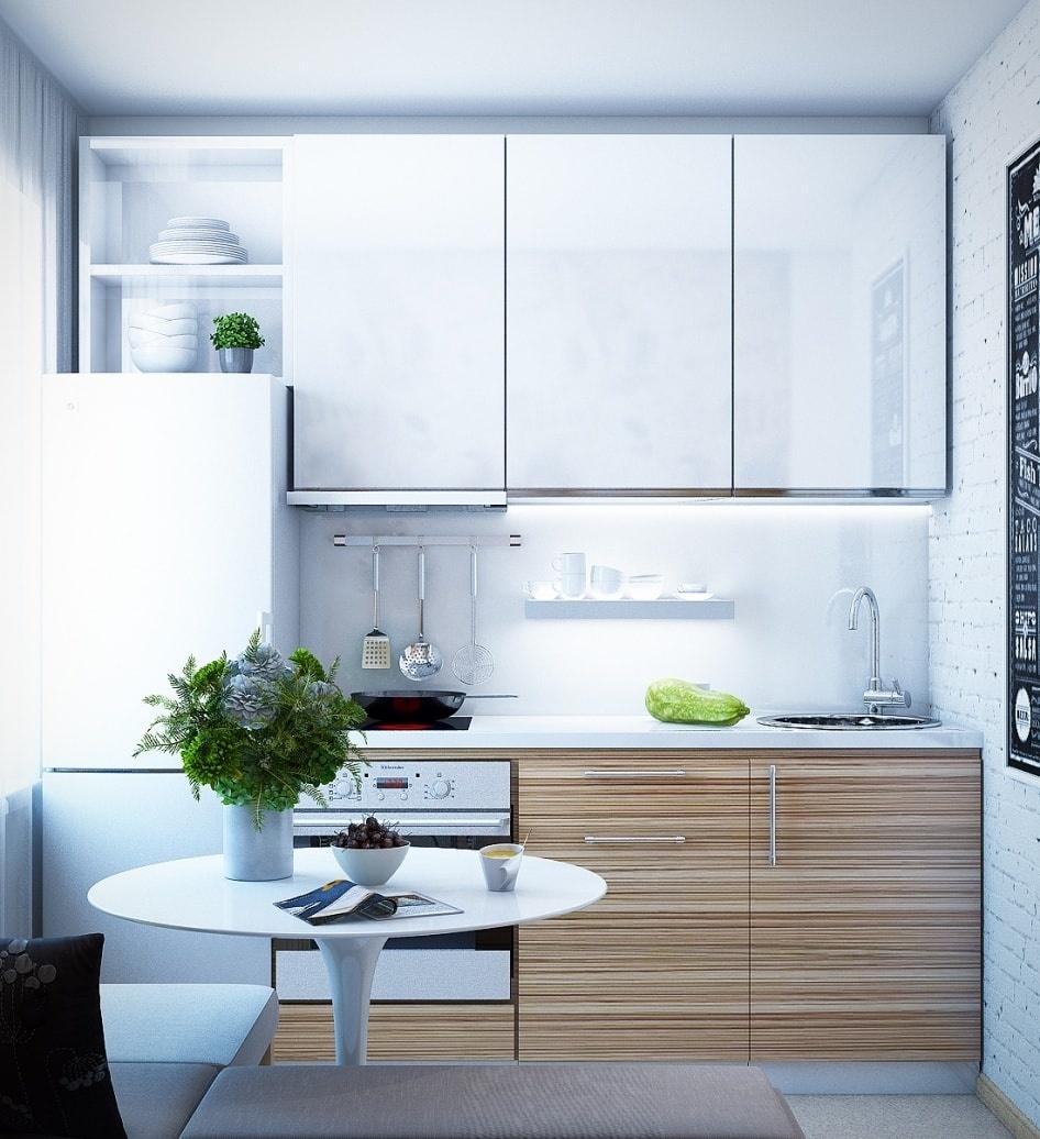 Цвет гарнитура в интерьере маленькой кухни: как выбрать?